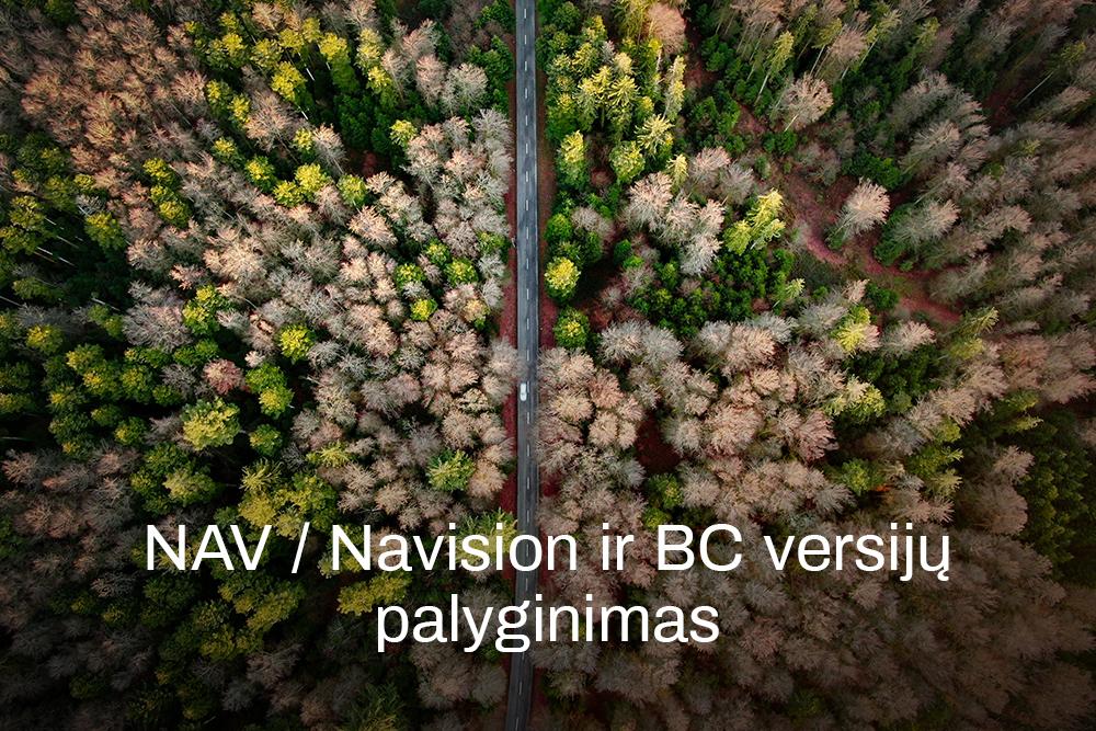 NAV / Navision ir BC versijų palyginimas